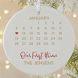 A Date to Remember 3.75-Inch Porcelain Christmas Ornament