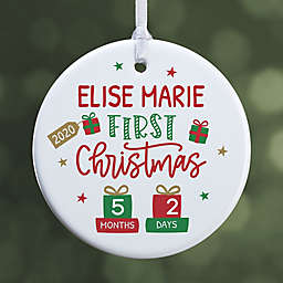 Baby's First Christmas 2.85-Inch Porcelain Christmas Ornament