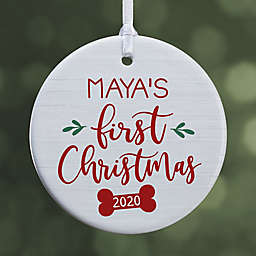 Dog's First Christmas 2.85-Inch Porcelain Christmas Ornament