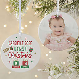 Baby's First Christmas 3.75-Inch 2-Sided Porcelain Christmas Ornament