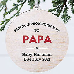 3.75-Inch Promoted Personalized Wooden Christmas Ornament in White