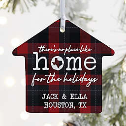 """""""There's No Place Like Home"""" 3.25-Inch Porcelain House Ornament in White"""