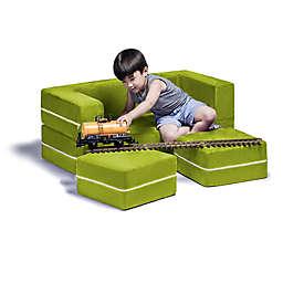 Jaxx® Zipline Convertible Kids Loveseat in Green