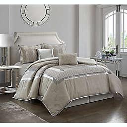 Nanshing Alessandra 6-Piece Comforter Set in Grey