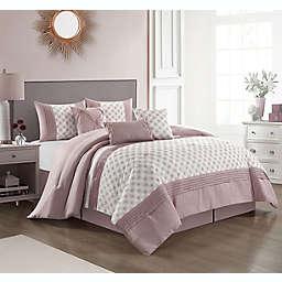 Nanshing Josephine 7-Piece California King Comforter Set in Blush