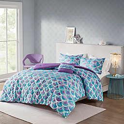 Mi Zone Pearl Metallic 4-Piece Reversible Comforter Set