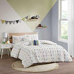 Urban Habitat Kids Callie 5-Piece Cotton Jacquard Pom Pom Full/Queen Comforter Set in Green/Navy