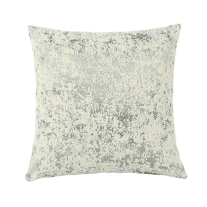 Alternate image 1 for O&O by Olivia & Oliver™ Assisi Square Throw Pillow in Silver