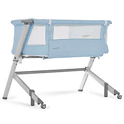 Dream On Me Skylar Bedside Sleeper in Blue