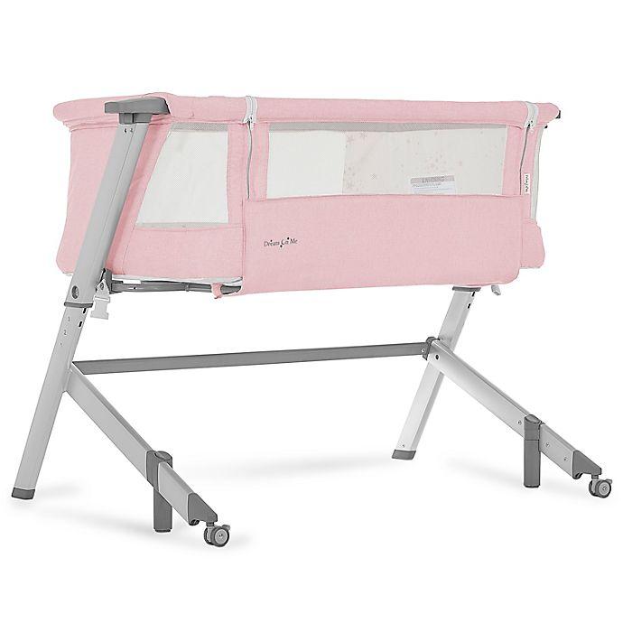 Alternate image 1 for Dream On Me Skylar Bedside Sleeper in Pink
