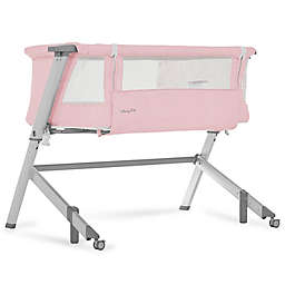 Dream On Me Skylar Bedside Sleeper in Pink