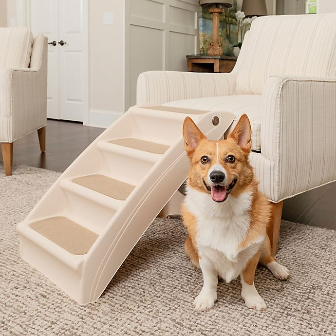 Alternate image 1 for PupSTEP Plus 4-Step Pet Stairs in Ivory