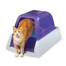ScoopFree® Ultra Self-Cleaning Hooded Litter Box in White/Purple