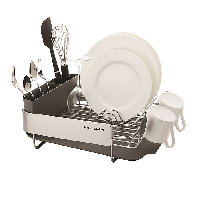 Alternate image 1 for KitchenAid® Compact Stainless Steel Dish Drying Rack