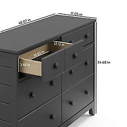 Storkcraft™ Moss 6-Drawer Double Dresser in Grey