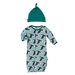 KicKee Pants® Size 0-3M 2-Piece Jade Mallard Coverall Set in Blue