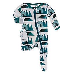KicKee Pants® Natural Cabins Footie Pajama in Green