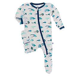KicKee Pants® Fishing Flies Footed Pajama in Blue