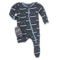 KicKee Pants® Canoe Footed Pajama in Stone Grey