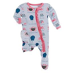KicKee Pants® Dew Crabs Footie Pajama in Purple