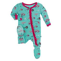 KicKee Pants® Glass Fishing Footie Pajama in Green