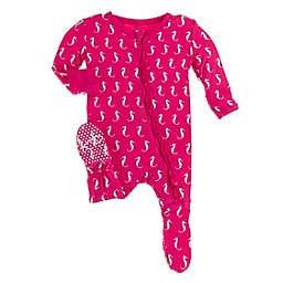 KicKee Pants® Prickly Pear Seahorse Footie Pajama in Pink
