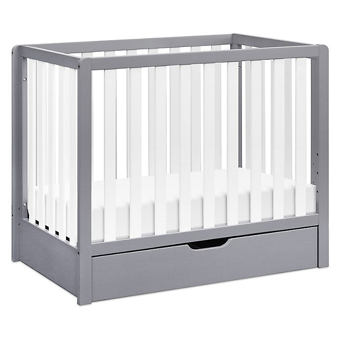 Alternate image 1 for carter's® by DaVinci® Colby 4-in-1 Convertible Mini Crib with Trundle in Grey/White