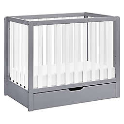 carter's® by DaVinci® Colby 4-in-1 Convertible Mini Crib with Trundle in Grey/White