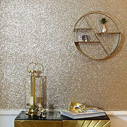 Arthouse Sequin Sparkle Wallpaper in Gold