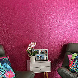 Arthouse Sequin Sparkle Wallpaper in Hot Pink