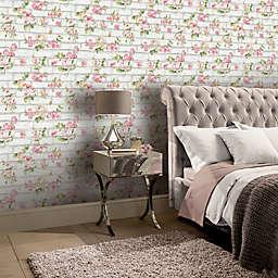 Arthouse Shabby Chic Brick Wallpaper in Pink/White