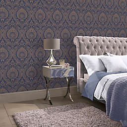 Arthouse Luxe Damask Textured Wallpaper