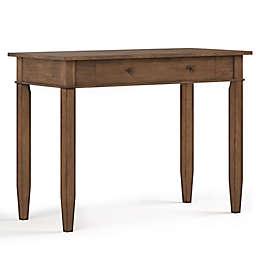 Simpli Home Carlton Desk in Brown