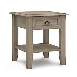 Simpli Home® Burlington Wood End Table in Distressed Grey