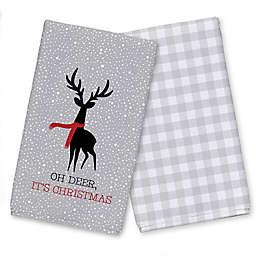 Oh Deer It's Christmas Tea Towel Set