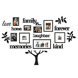 WallVerbs™ Family Is Tree Picture Frames in Black