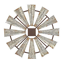 Ridge Road Décor Indoor/Outdoor Decorative Metal Windmill Wall Décor