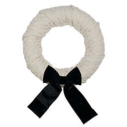 Style Me Pretty 20.5-Inch Knit Sweater Christmas Wreath in Black/White