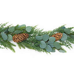 Style Me Pretty 72-Inch Artificial Pine and Eucalyptus Garland in Green/Brown