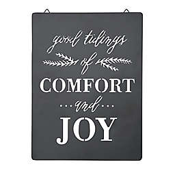 Style Me Pretty Comfort and Joy 12-Inch Decorative Sign in Black/White