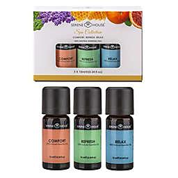 Serene House® 3-Pack Spa 10 mL Essential Oils Gift Set