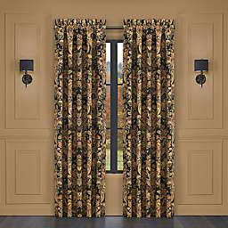 J. Queen New York™ Toscano 84-Inch Rod Pocket Window Curtain Panel Pair in Black