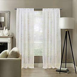 Woodlyn Rod Pocket Sheer Window Curtain Panel (Single)