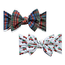 Baby Bling® One Size Plaid REVERSE-A-BOW Reversible Bow Headband