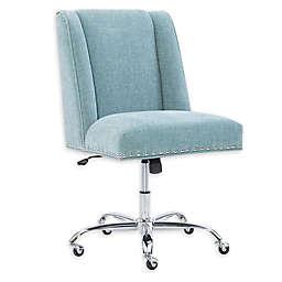 Linon Home Draper Office Chair in Aqua