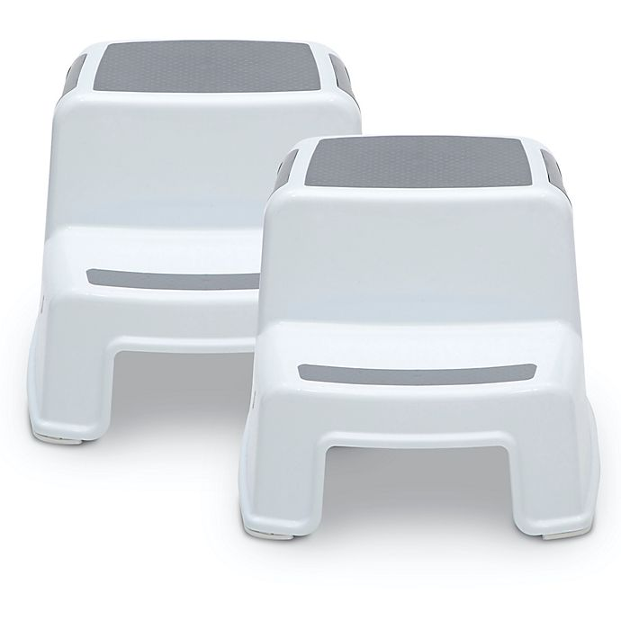 Alternate image 1 for Delta Children 2-Pack Kids Size Toddler Step Stools in White
