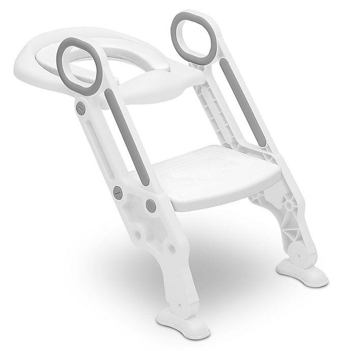 Alternate image 1 for Delta Children Kid Size Toddler Potty Training Ladder Seat in White/Grey