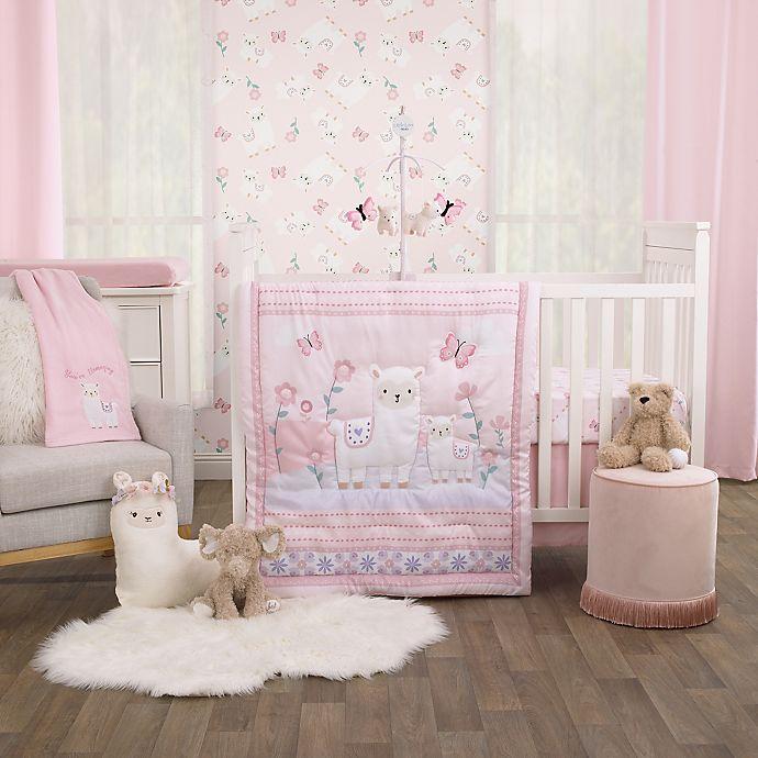 3 Piece Crib Bedding Set In Pink, Light Pink Crib Bedding Set