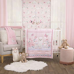Little Love by NoJo® Sweet Llama and Butterflies 3-Piece Mini Crib Bedding Set in Pink