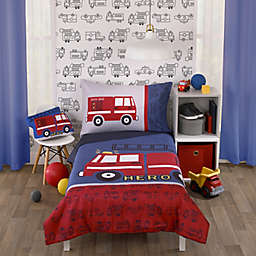 carter's® Fire Truck 4-Piece Toddler Bedding Set in Red